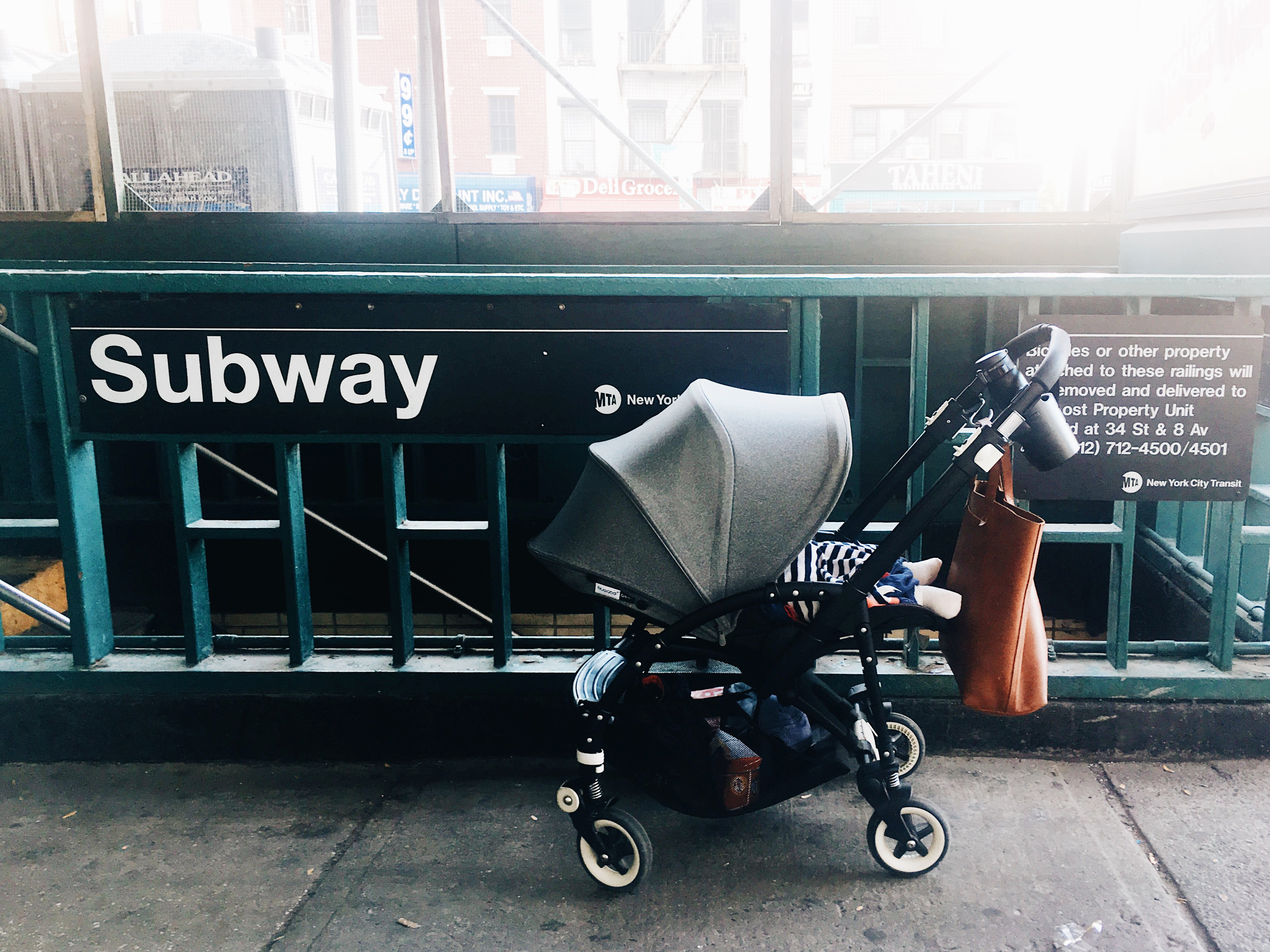stroller at subway entrance