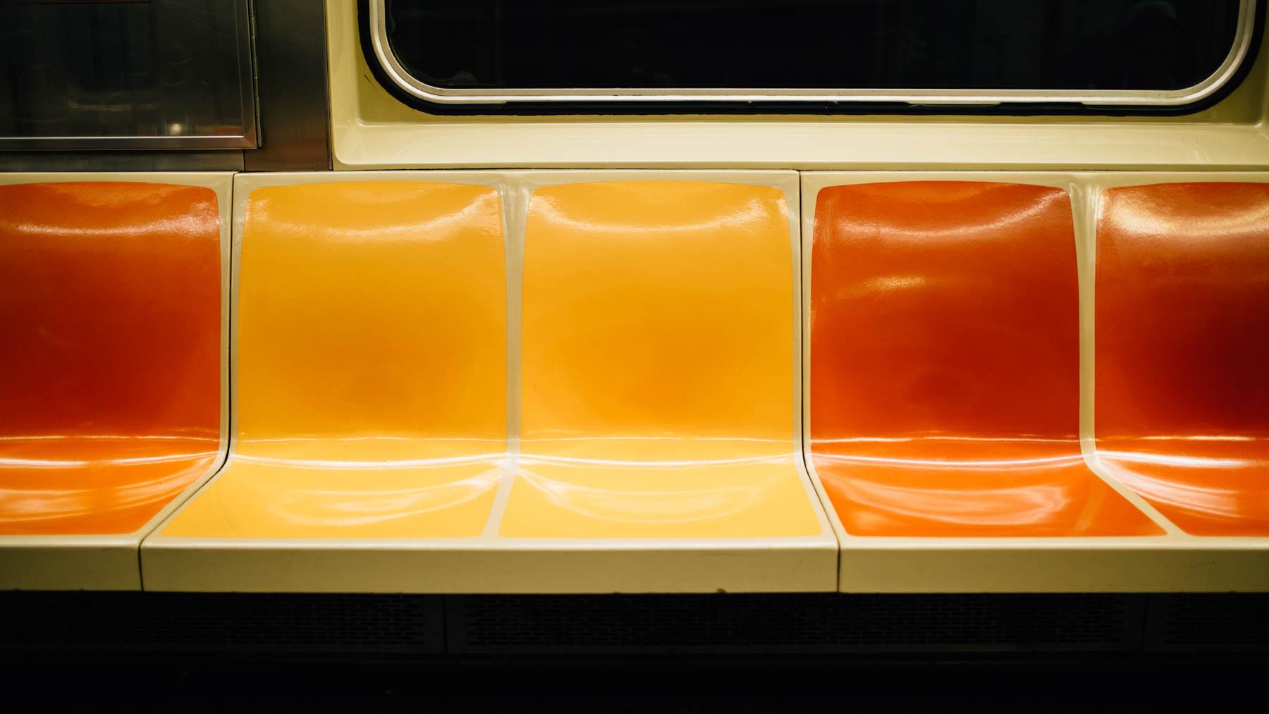 empty subway seats